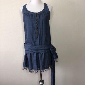 IRO Silk drop waist tunic sleeveless dress